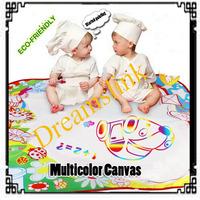 New novel multicolor Aquadoodle drawing mats+ 1 magic water pen colorful mats for  pre-school education 68cmx68cm freeshipping