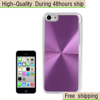 New CD Texture Paste Metal Skin Crystal Hard Case Cover for iPhone 5C Free Shipping UPS DHL EMS HKPAM CPAM BR-10