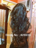 Virgin Unprocessed #1b Brazilian Super Wave Human Hair All Length U Part Wigs Free Shipping