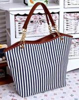 2014 New Arrival Fashion Woman Handbag Vintage Fashion Stripe Plaid Big Tassel Shoulder Bag Chain Free Shipping