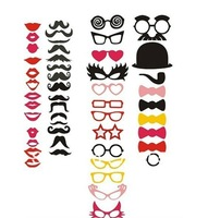 New Year Sale!Wholesale Free shipping, 50pcs/lot DIY Photo Booth Props Hat Mustache On A Stick Wedding Birthday party fun favor