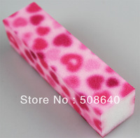 4ways Nail Art Tool Standing Buffer Block Beauty File 100pcs/lot Pink Color For Pedicure Set 639