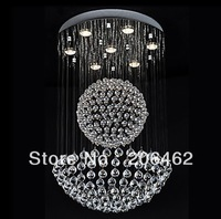Free Shipping 50W Modern K9 Crystal Pendant Light with 7 Lights and Crystal Beaded Globe Decor (GU10 Base)