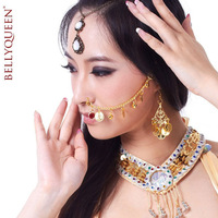 Belly dance accessories jewelry indian dance accessories belly dance chain indian dance nose ring chain red diamond chain