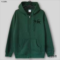 Et chinese style Men autumn and winter zipper-up with hood a male fleece sweatshirt hoodie thickening thermal plus size
