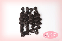 A&R hair products unprocessed peruvian virgin Loose Wave Hair Extension 3pcs lot Free Shipping