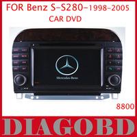 Windows CE Version  Benz S280 1998 1999 2000 2001 2002 2003 2004 2005 Car DVD Player with GPS RDS radio bluetooth car dvd