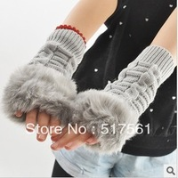 2013 new fashion  wool knit gloves,winter gloves, winter fur mitten