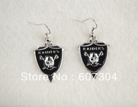 fashion sport single-sided Oakland Raiders  earrings,10pairs a lot,free shipping