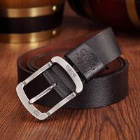 Power de bond strap men's casual cowhide wide belt buckle the trend of male pin fashion