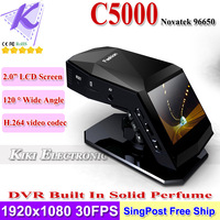 Christmas Gift Auto Car Black Box Built In Solid Perfume + 2.0inch LCD With Novatek Processor 1080P 30FPS Full HD H.264 DVR