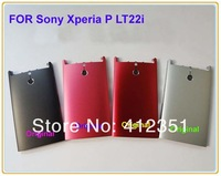 Black/Silvery/Pink/Red Original Housing Battery Back Cover Case Door For Sony Xperia P LT22 LT22i Free Shipping