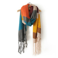 Women Fashion Rainbow Color Warm Scarf Ladies Neckerchief Winter Fashion Pashmina S14204001