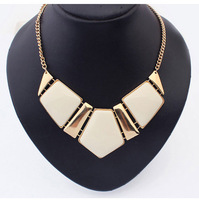 Min.Order $15 (Mix Wholesale) Factory Outlet Jewelry,Europe Boutique Geometry Short Style Women Necklaces,6 Colors,N264