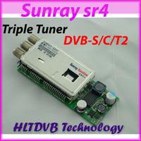 Sunray sr4 dm800se triple tuner , sr4 tuner ,dvb-s dvb-c dvb-t 3 in 1 tuner for sunray4 Free Shipping Post
