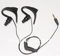 3.5mm Earhook Waterproof earphone/headphone for Speedo Aquabeat/ipod/iCharge IPX8 MP3 Player free shipping