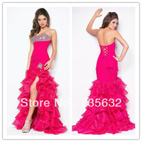 2013 Free shipping new arrival prom party  fit Long Beaded crystals gowns Sweetheart Organza sexy Bandage Evening dress A 297