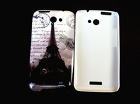 Eiffel Tower UK flag Various Cartoon Pattern Design Hard Skin Case Cover For HTC ONE X G23