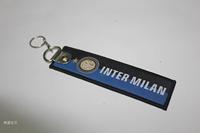 [International] Inter Milan team luggage buckle embroidery keychain
