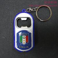 Team logo beer bottle opener spoon with light key chain football keychain team hangings