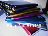 Slim 30pcs Metal 5600mah Portable Power bank with led flashlight External battery USB Charger pack For samsung s4 iphone 5s 5c