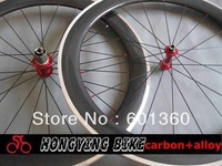25mm width alloy brake surface carbon bicycle wheels,60mm carbon road bike wheels