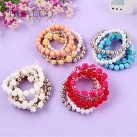 2013 New Arrived Fashion Korean Sweety Multilayer Rose Pearl Bracelet B367 B368 B369 B370