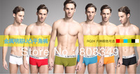 2013 6pcs brand new Lanuibum male sexy metal u modal boxer panties set Men Multicolor M/L/XL Boxer Shorts free shipping