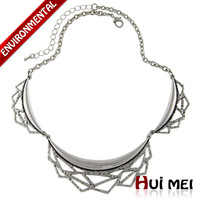 New Fashion Women Silver Plated Punk Charms Hollow Statement Choker Necklaces Vintage Jewelry