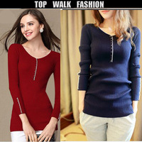 New Arrival Women Fashion Korean Soft Sweater  Lady raglan sleeve Turtleneck Lace sweaters good fabric sweather high quality
