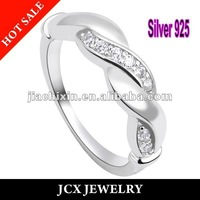 free shipping rhodium plating bridal jewelry rings