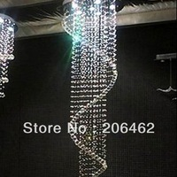 Free Shipping Contemporary Spiral 4 Light Chandelier K9 Crystal Ball Hanging Stair Lamp