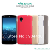 Free Ship! 10pcs For LG Nexus 5 Original Nillkin skin cover phone case, Super shield shell + 10pcs screen protectors