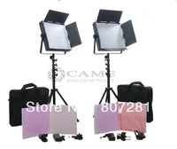 Free Bag Bi-color 2x1200 LED Video Studio Light Camera Daylight lighting