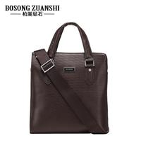2013 bag fashionable casual commercial ol bag cowhide cross-body handbag briefcase man bag plaid