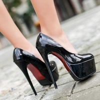 Free shipping,SY40,$5 off per $100 order,size 34-39,patent leather,platforms,fashion shoes women pumps lady high heel shoes