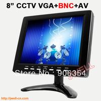 8 inch 4:3 color CCTV BNC Monitor with 800X600 LCD screen AV/VGA/BNC input  free shipping by post