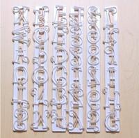 6pcs Alphabet Number Letter Fondant Cake Frill Edge Sugarcraft Cutter Mold Tool