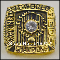 Accept Customized Free Shipping High Quality Replica Sport Gold 1976 Cincinnati Baseball Championship Ring