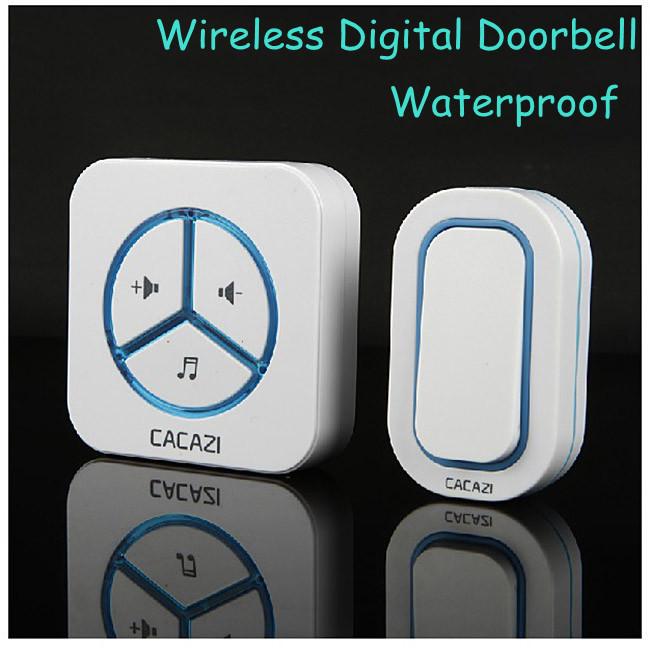 1 Receiver +1 Remote Controller Waterproof 280m work wireless doorbell,wireless door chime,wireless bell, 36 melodies door bell(China (Mainland))