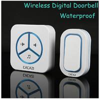 1 Receiver +1 Remote Controller Waterproof 280m work wireless doorbell,wireless door chime,wireless bell, 36 melodies door bell