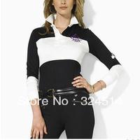 Wholesale 2013 New Style Fashion Polo T- Shirt For Women,Women's Long Sleeve Polo Shirt 100% Cotton