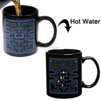 Pac-Man Game Color Changing Ceramic Coffee Cup / Coffee Mug