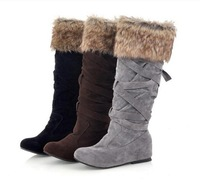 2014 Elevator Strap High-leg Knee High Women's For Winter Snow Boots Increase The Size Of 40 41 42 43