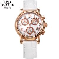 Oyalie rose gold fashion genuine leather watchband fashion table fashion women's watch