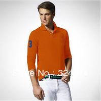 Wholesale 2013  New Long Sleeve 100% Cotton Polo T-shirt ,2013 New Arrived   Men's T Shirt  fashion polo shirt Big Horse