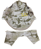 New Promotional Camo Color US Army Embroidery High-quality Fur Brim Hooded Pet Dog Clothes Winter
