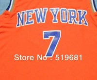Freeshipping,2013 top quality fashion cheap New York Anthony #7 basketball jersey,New Material,Embroidery logos S-XXXL