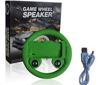 EMS Free shipping 20pcs/lot New Game wheel speaker Steering Wheel Controller for iphone 4/4s retail package