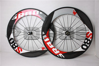 IN stock!! full carbon road bike wheelset SRAM80  88mm with hubs+spokes high tensile carbon wheel clincher wholesale